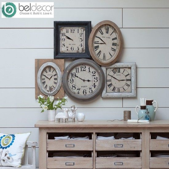 Rustic-clock-display