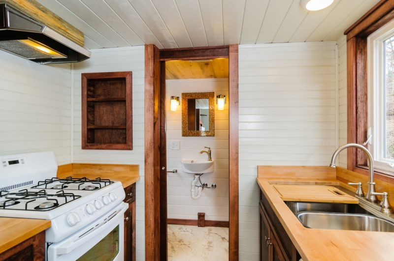 The Sheriff Tiny house featured with walk in closet 7 2